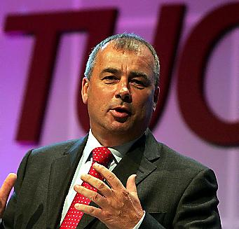 Brendan Barber urged the Government to introduce a Tobin tax on financial transactions