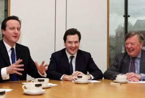 David Cameron, George Osborne and Ken Clarke have all accepted gifts from the financial sector