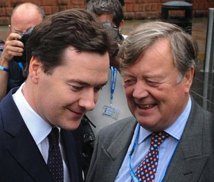 "Does George Osborne's attack on the predictions of ""previous Chancellors"" include Ken Clarke?"