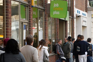 People-queueing-at-a-Job-Centre