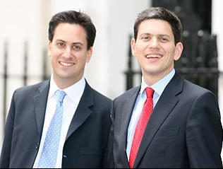 The Miliband brothers are neck-and-neck in the first round of voting