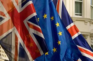 Britain-European-Union-flags
