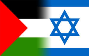 Palestine-Israel-flags