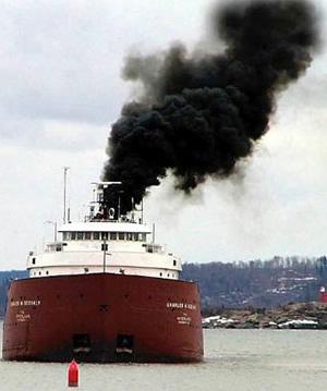 Polluting-ship