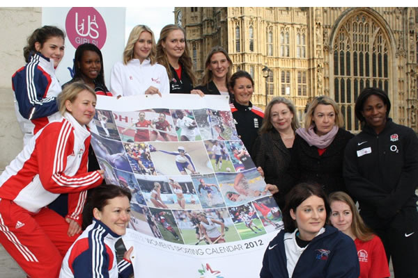 Sportswomen-outside-Parliament