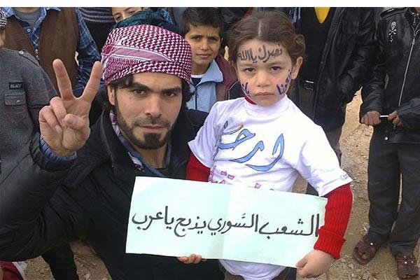 Syria-pro-democracy-protesters-Aleppo-30-12-11