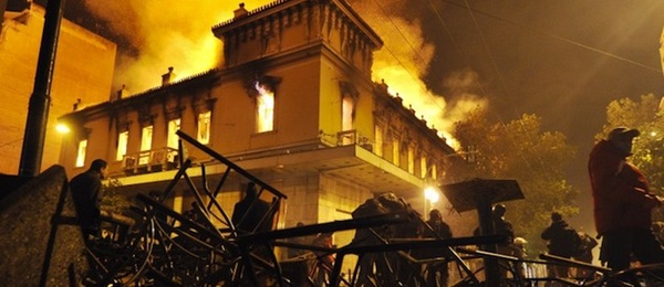 Athens burning. The Troika's plan continues.