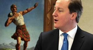 A painting prepares to attack Cameron.