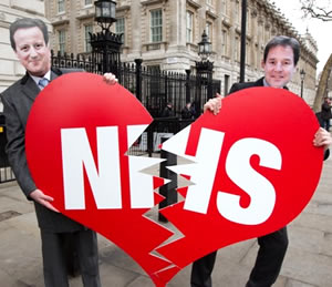 David-Cameron-Nick-Clegg-breaking-up-the-NHS