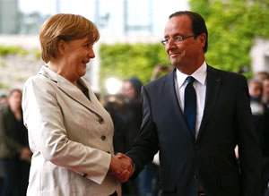 Angela-Merkel-Francois-Hollande