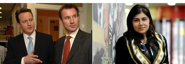 David-Cameron-Jeremy-Hunt-Sayeeda-Warsi