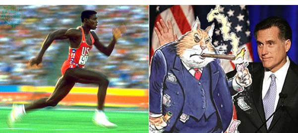 Carl-Lewis-Mitt-Romney