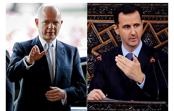 William-Hague-Bashar-al-Assad