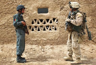 Afghan troop and US troop