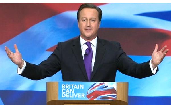 英国首相戴维·卡梅演讲