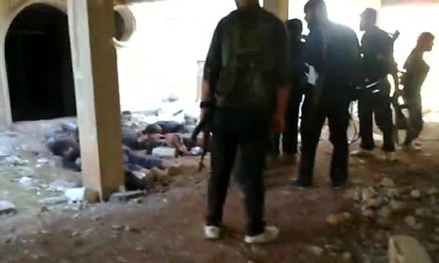 Video showing the execution of pro-government soldiers by rebel forces.