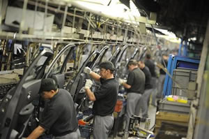British workers on a car factory line - but why the productivity deficit?