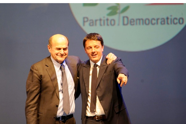 Pier-Luigi-Bersani-Matteo-Renzi-Partito-Democratico-primaries