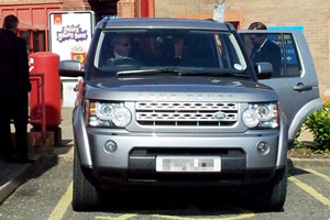 George Osborne disabled parking space