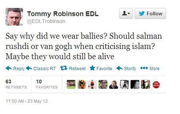 EDL tweet