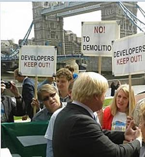 Boris protesters