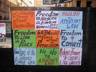 apostasy protest