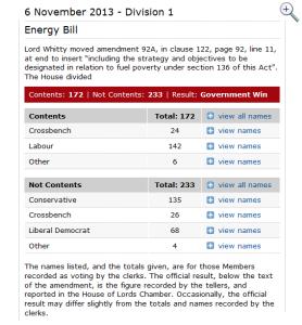Energy bill fuel poverty amendment