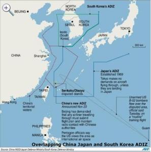 China seas map