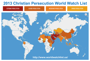 Persecution of Christians map