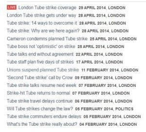 BBC strike coveragej