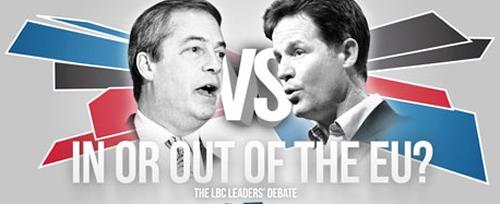 Clegg versus Faragej