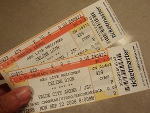Concert ticketsj