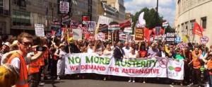 Anti austerity marchj