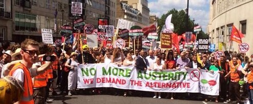 Anti austerity marchj