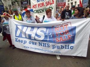 NHS protestj
