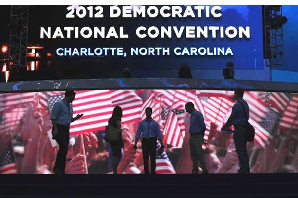The 2012 Democratic National Convention, Charlotte, North Carolina