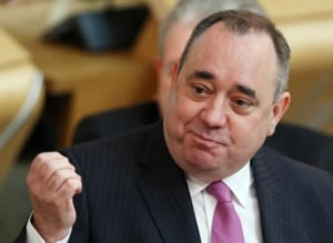 Classy: Salad-dodger Salmond responds to the latest slapdown of his biased referendum question