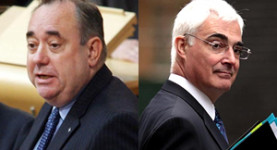 Alex Salmond: Given a beat down by Alistair Darling at the weekend