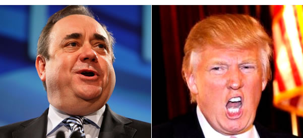 Dodgy: Alex Salmond and Donald Trump