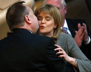 Alex Salmond and Nicola Sturgeon in happier, pre-Scomnishambles days