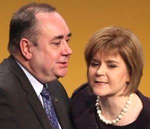 "Alex whispers sweet nothings into Nicola's ear: ""You know, they may take our love, but they'll never take our freedom!"""