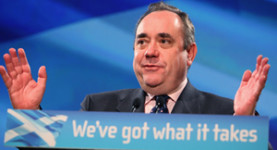 Alex Salmond addresses the SNP Conference