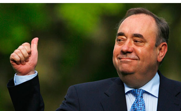 The Laughing King of Scotland: Alex Salmond, First Minister of Scotland and leader of the SNP