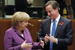 "Angela: ""Zo, it vas like zis big...""; Dave: ""Feisty one you are!"""