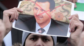 An anti-Assad protest