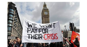Fighting back: Anti-cuts protesters march on Westminster