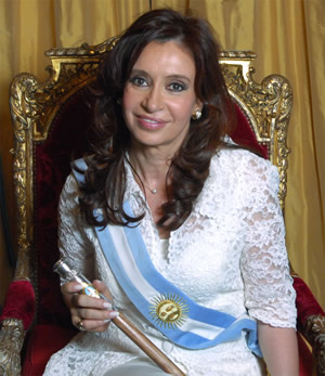 The real Iron Lady: President Cristina Kirchner of Argentina - she wants the Falklands back. Now