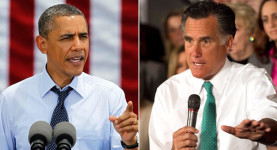 Neck-and-neck: Barack Obama and Mitt Romney