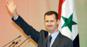 Wave goodbye to the people, Assad