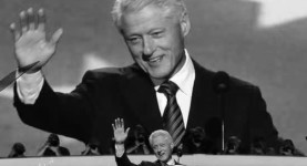 Bill Clinton addresses the DNC late Wednesday